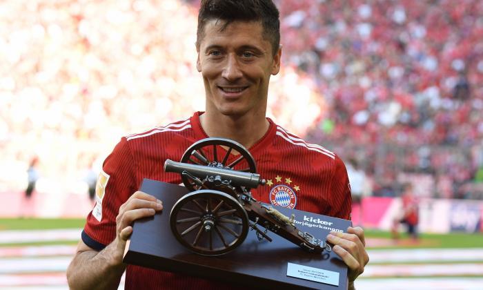 Robert Lewandowski, goleador de la Bundesliga.