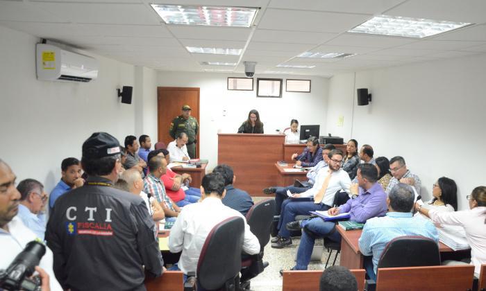 Aspecto de la audiencia realizada en Valledupar.