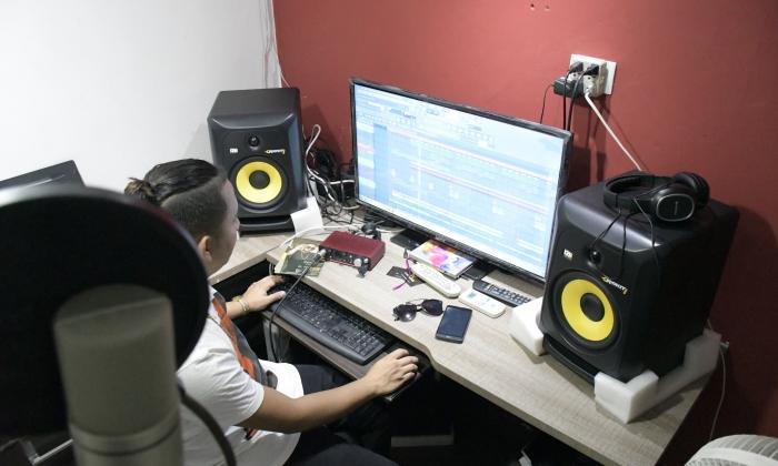 Estudio VIP Music ubicado en el barrio Carlos Meisel, en Barranquilla.