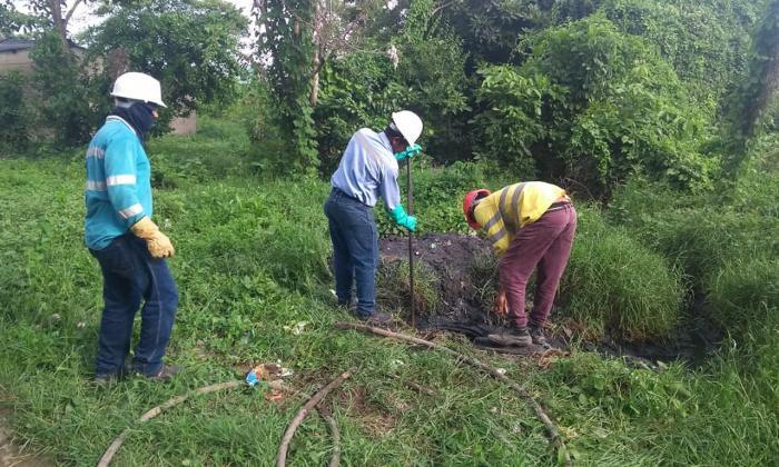 Intervienen 3.6 km de alcantarillado en zona de Luruaco