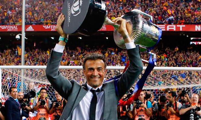 El seleccionador Luis Enrique.