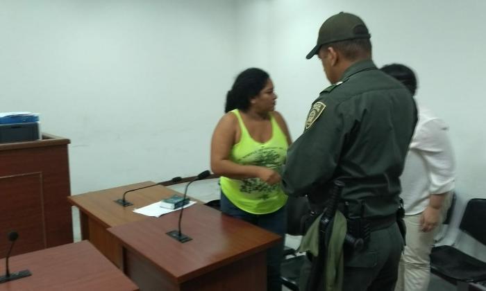 Angélica María Coronado durante la audiencia.