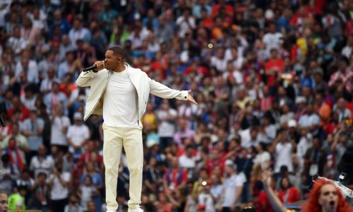 En video | Así fue la emoción de Will Smith antes de su presentación en el Mundial