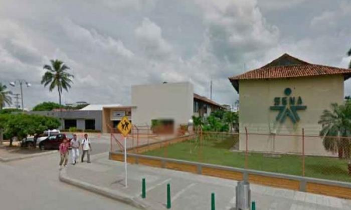 Fachada de  la sede del Sena en Montería.