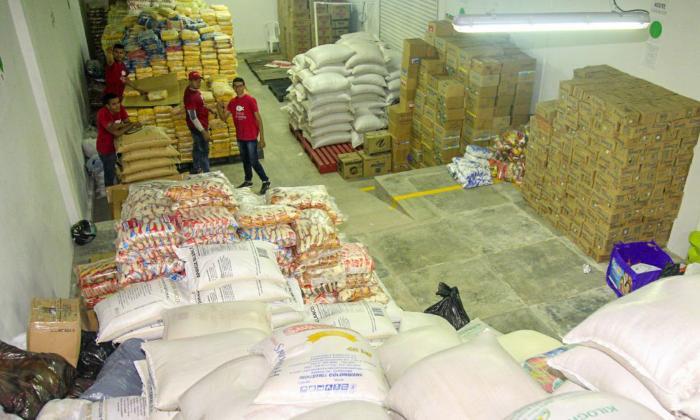 Recolectan 65 toneladas de alimentos en Donatón en Sincelejo