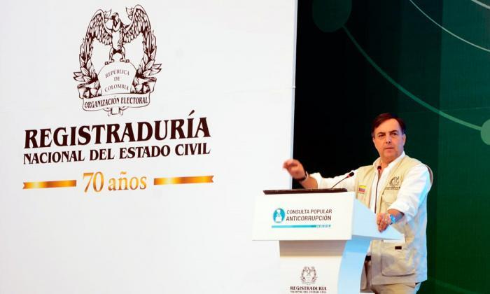 Juan Carlos Galindo, registrador nacional.