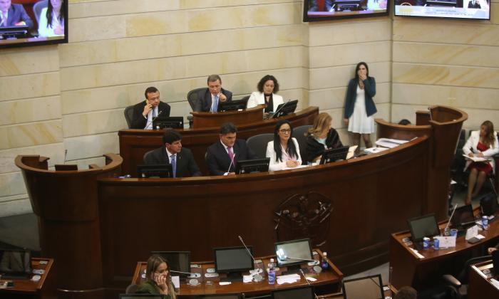 Congresistas en reciente sesión en el Senado.