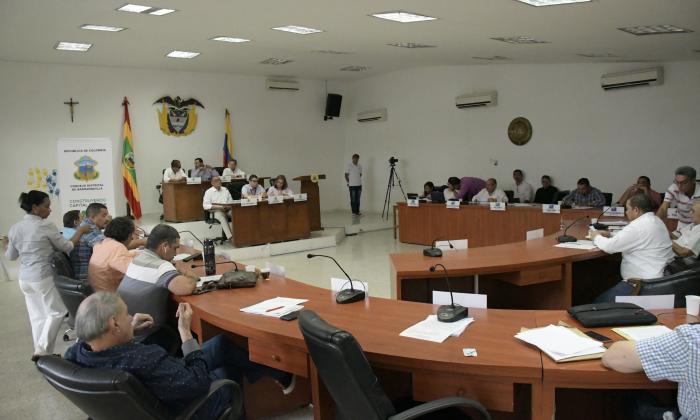 Cabildantes durante la sesión de ayer del Concejo.