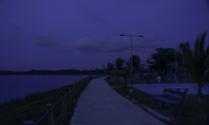 Este es el panorama del parque a las 6 de la tarde.