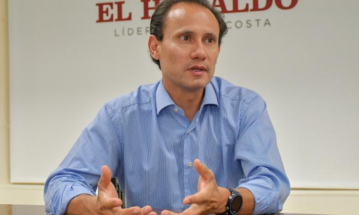 Alejandro Castañeda, director ejecutivo de Andeg, en su visita a EL HERALDO.