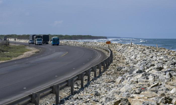 Kilómetro 19 de la vía Barranquilla-Ciénaga, uno de los puntos más críticos.