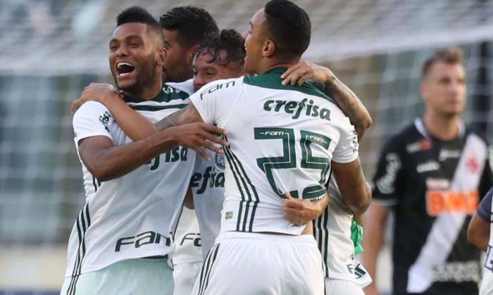 Miguel Ángel Borja campeón con Palmeiras en el Brasileirao