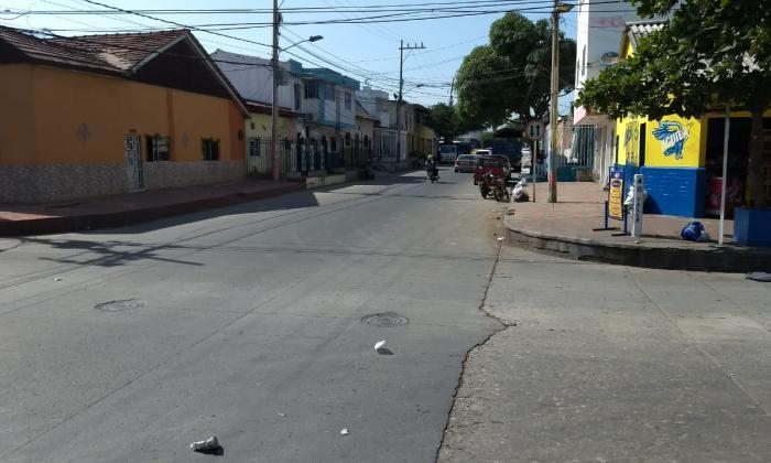 Calle 40 con carrera 25, lugar donde dejaron abandonada a la víctima.