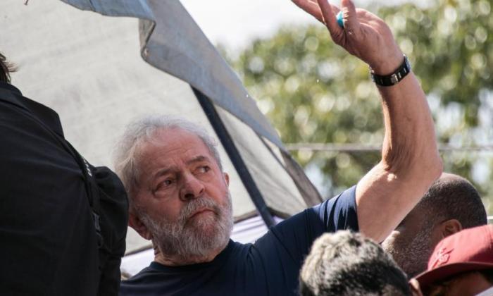 El encarcelado expresidente Luiz Inácio Lula da Silva.