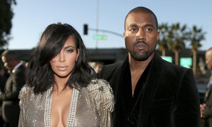 Kim Kardashian, junto a su esposo Kanye West.