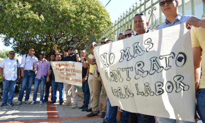 En el norte de Valledupar se reunieron los manifestantes.