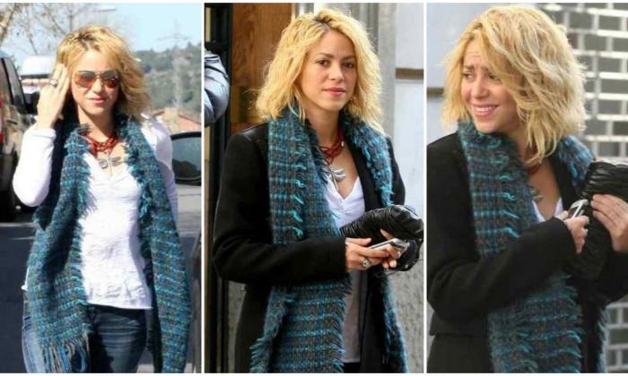 La cantante Shakira y su cambio de corte de cabello.