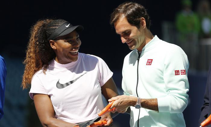 Las estrellas Serena Williams y Roger Federer.