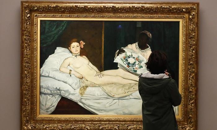 Obra 'Olympia' (1863), de Edouard Manet, que hace parte de la exposición.