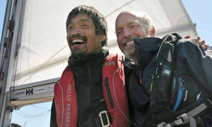 Un japonés, primer ciego en cruzar el Pacífico en velero