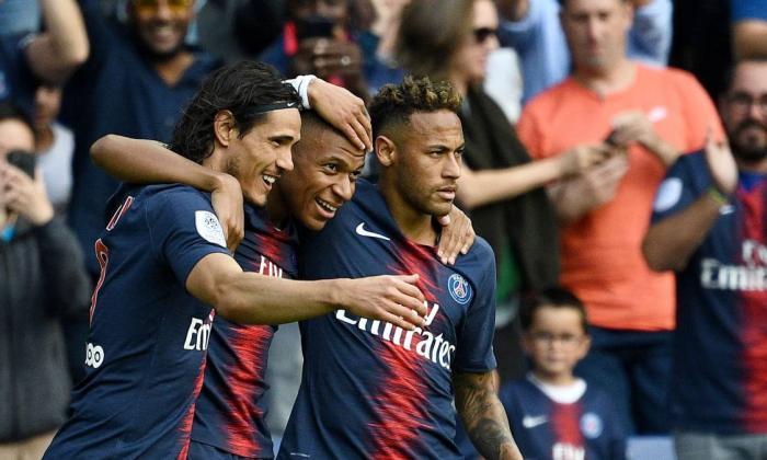 Cavani, Neymar y Mbappé.