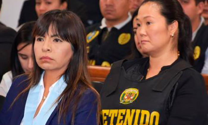 Keiko Fujimori durante una audiencia.