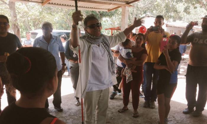 """""""Gracias por tanta convicción hacia la paz de Colombia"""": Santrich tras llegar a ETCR Pondores"""