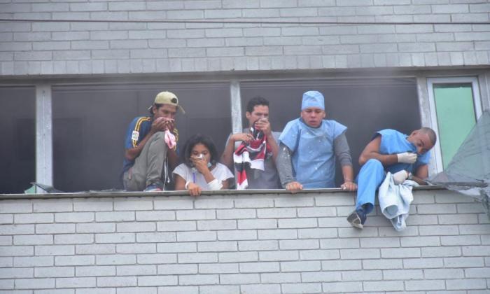 Incendio en la clínica La Merced.