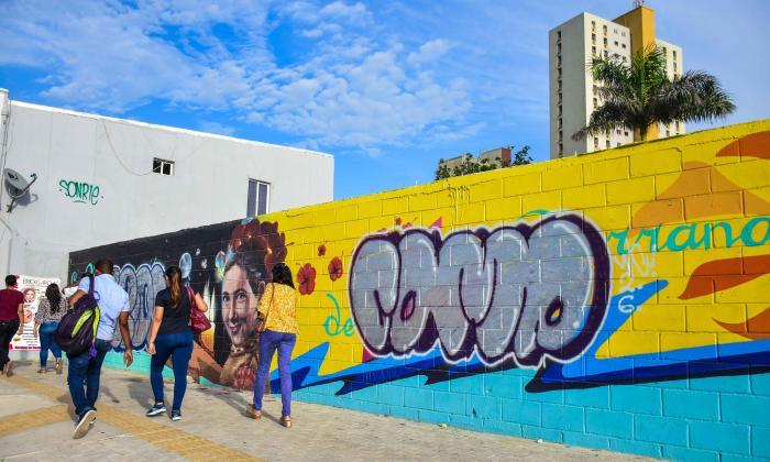 En video | Grafiteros dañan mural que le rendía homenaje a Esthercita Forero