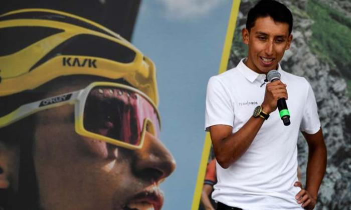 """En video   """"Tal vez yo voy a poder volver a ganar un Tour de Francia"""": Egan en Zipaquirá"""