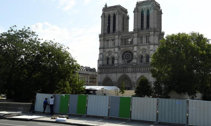 La catedral aún se encuentra en la fase de consolidación de su estructura.