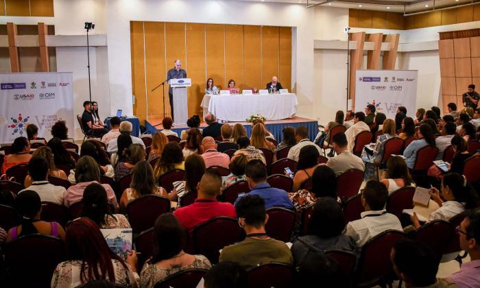 Aspecto del congreso Internacional en Prácticas y Justicia Restaurativa que inició este miércoles.