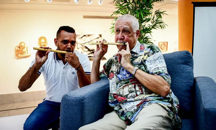 Una de las leyendas vivientes de la música cubana, el maestro Francisco de Jesús Rivera Figueras, mejor conocido como Paquito D'Rivera.