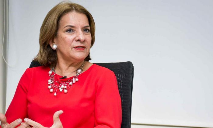 Margarita Cabello, ministra de Justicia y del Derecho.