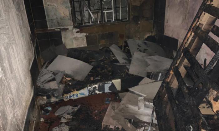 En esta habitación, la tercera de la casa, murieron calcinadas las pequeñas Antonella y Kilery.