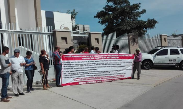 En Villa Campestre protestan otra vez por trazado de la II Circunvalar