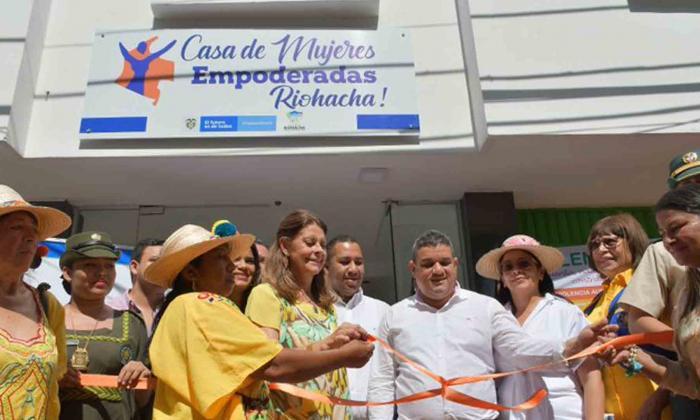 Vicepresidenta durante la inauguración de la Casa de Mujeres en Riohacha.