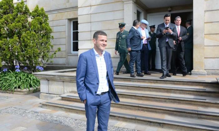 Congresistas de Cambio Radical saliendo de Palacio, tras reunión con Duque.