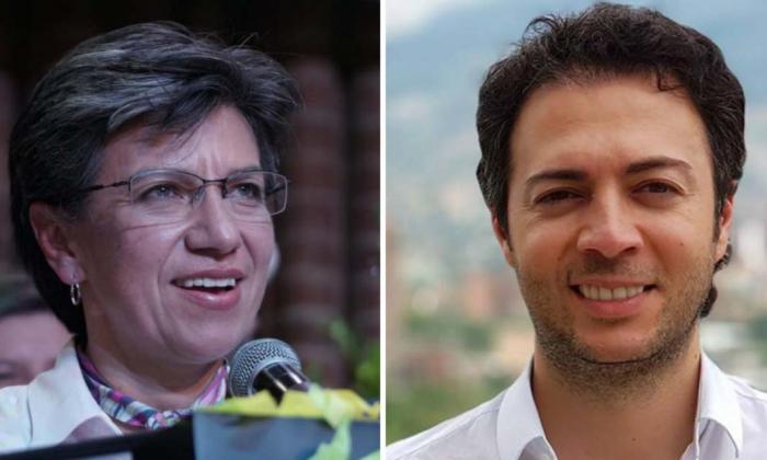 Claudia López y Daniel Quintero.