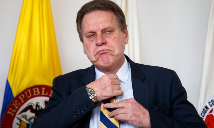 Ramón Jesurun Franco, presidente de la Federación Colombiana de Fútbol.