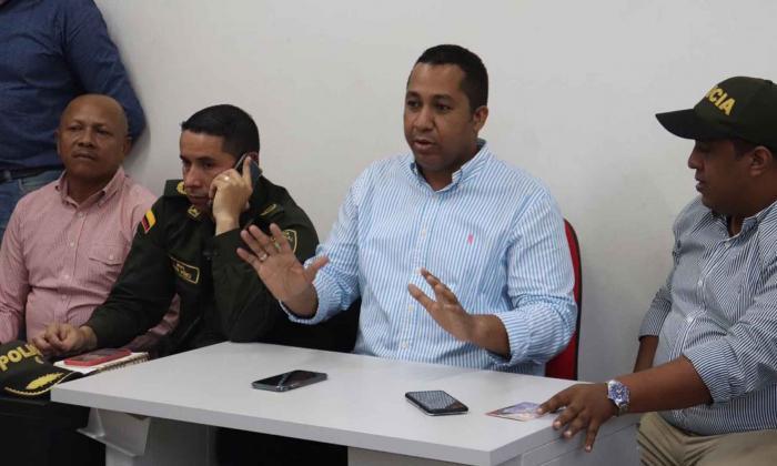 Alcalde de Riohacha durante las declaraciones.