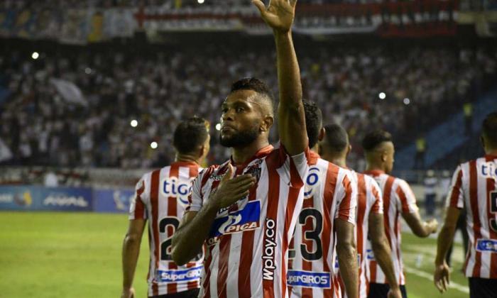 Miguel Borja fue el artífice del gol de Junior.