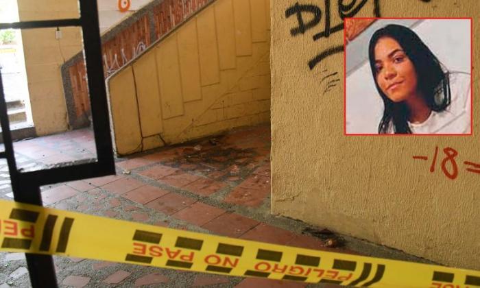 En esta zona de la Universidad del Atlántico, sede centro, fue hallado el cuerpo de la joven estudiante.