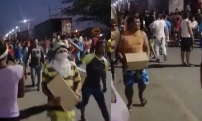 En video| Habitantes de frontera saquean camiones en Paraguachón