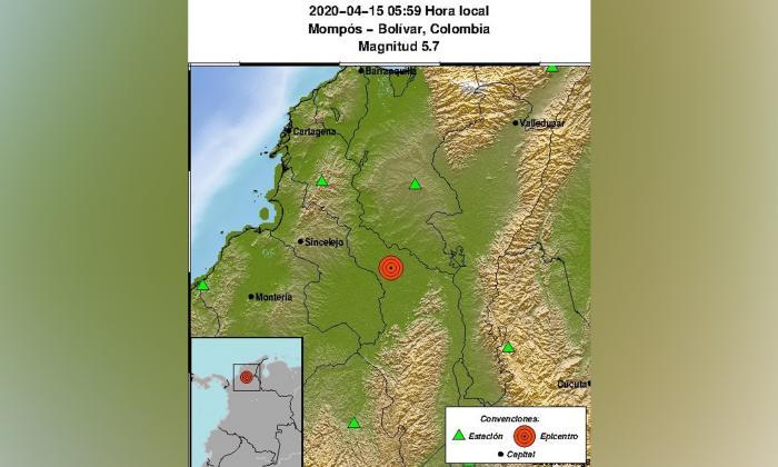 Temblor despertó a los magdalenenses