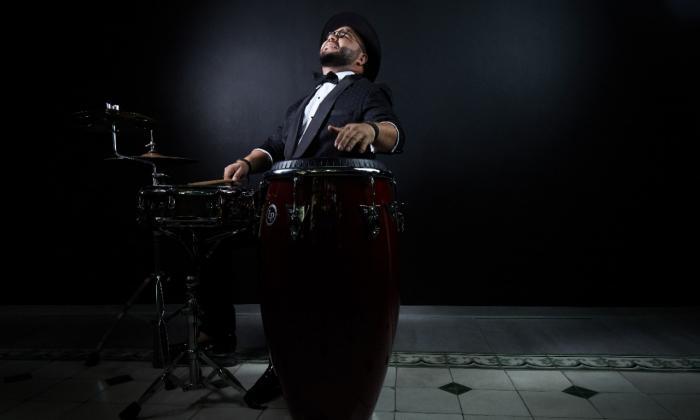 Blao Márquez, percusionista.