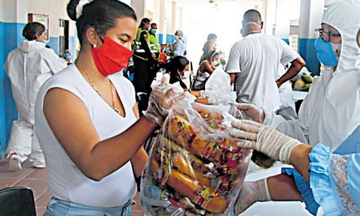 La BAQatón recibe donaciones de mercados.