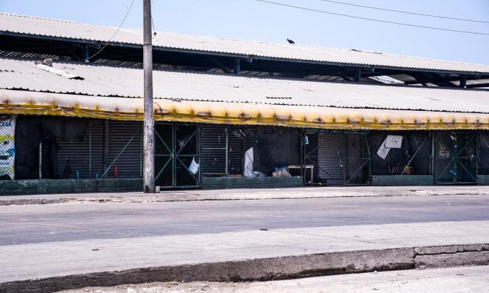 Vista de una parte del mercado de Barranquilla a la altura de la calle 30.