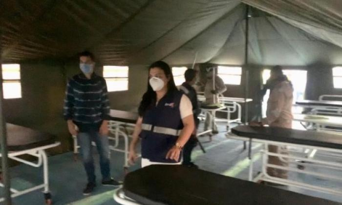 Instalan en Cartagena hospital de campaña para pacientes COVID-19