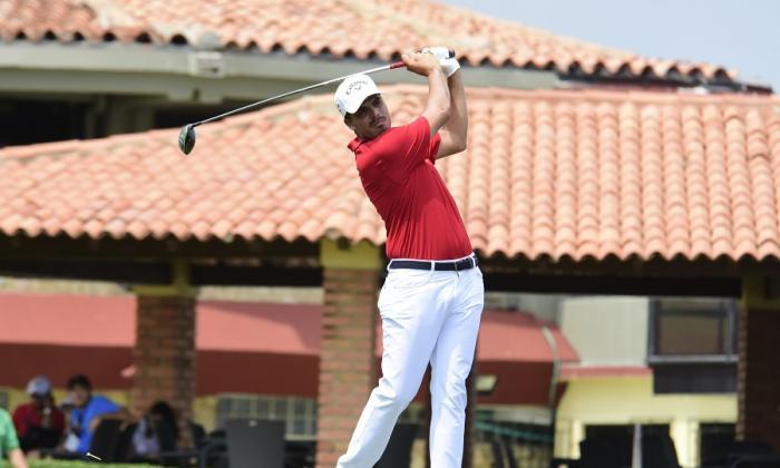 El golfista barranquillero Ricardo 'Pipo' Celia en acción.